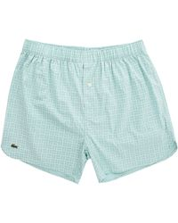 Lacoste Mint-Green Chambray Stretch Cotton Underpants green - Lyst