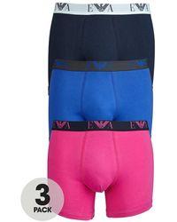 Emporio Armani Mens Fashion Trunks 3 Pack - Lyst