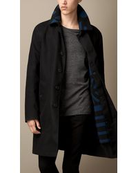 Burberry Cotton Twill Coat with Removable Warmer - Lyst