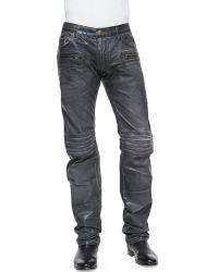 Robin's Jean 3D Coated Denim Moto Pants - Lyst