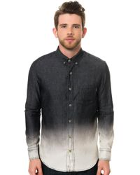 Reason The Chambray Dip Dye Ls Buttondown Shirt - Lyst