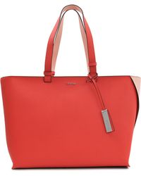 CALVIN KLEIN 205W39NYC - Sofie Saffiano Large Tote - Lyst
