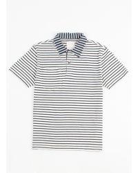 Billy Reid Striped Polo - Lyst