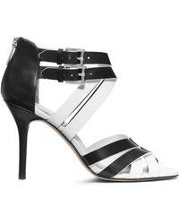 Michael Kors Camie Opentoe Leather Sandal - Lyst