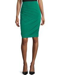 ESCADA Pleated Pencil Skirt - Lyst