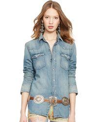 Polo Ralph Lauren Denim Western Shirt - Lyst