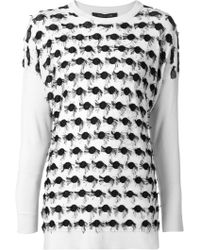Thakoon Embroidered Sweater - Lyst
