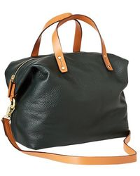Gap Leather Satchel Crossbody - Lyst