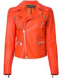 Gucci Orange Biker Jacket - Lyst