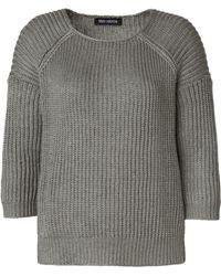 Iris Von Arnim Short Sweater Noa gray - Lyst