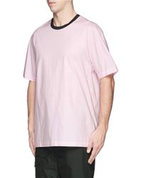 3.1 Phillip Lim Cotton Blend Poplin T-Shirt - Lyst