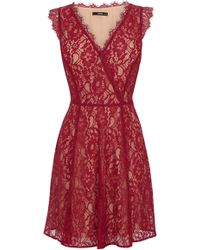 Oasis Lace Wrap Skater Dress - Lyst