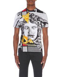 Versace Baroque Head-Print Cotton T-Shirt - For Men multicolor - Lyst