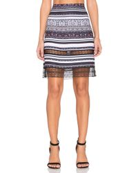 Clover Canyon   Striped Tapestry Skirt   Lyst