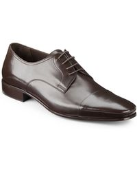 Bruno Magli Martico Leather Captoe Dress Shoes - Lyst