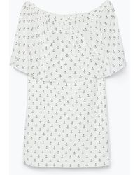Zara Frilled Dress - Lyst