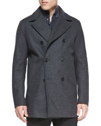 Theory Midlength Woolblend Peacoat - Lyst