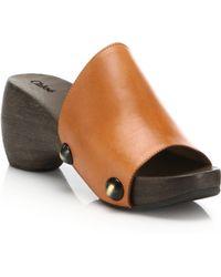 Chloé | Leather Clog Sandals | Lyst