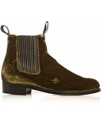 Penelope Chilvers - Velvet Chelsea Boots - Lyst