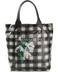 Carven Check Logo Shopper Bag - Lyst