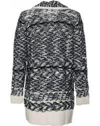 Line   black Long Sleeve Wool Chunky Long Cardigan Jacket   Lyst