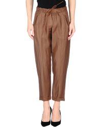 Twin-set Simona Barbieri 3/4-Length Trousers - Lyst