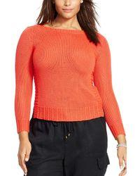 Lauren by Ralph Lauren - Mix Stitch Bateau Neck Sweater - Lyst