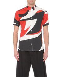 Alexander McQueen Swirl-Print Cotton Shirt - For Men - Lyst