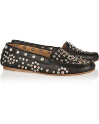 Isabel Marant Cherry Embellished Leather Loafers - Lyst