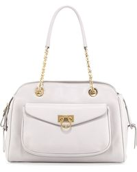 Ferragamo A-line Pocket Chain Shoulder Bag - Lyst