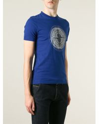 Stone Island Logo Print T-Shirt - Lyst