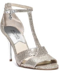 Michael Kors Diana Open-toe Leather Sandal - Lyst