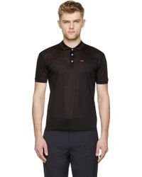 DSquared2 Black Jersey Dan Fit Polo Shirt - Lyst