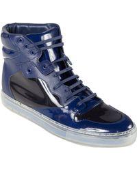 Balenciaga Vinyl Leather Hightop Sneakers - Lyst