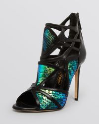 Alejandro Ingelmo Caged Evening Sandals - Odyssey High Heel animal - Lyst