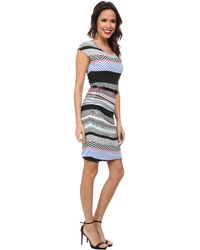Kut From The Kloth Multicolor Belted Dress - Lyst