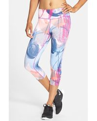 Bench | 'Painterly' Print Capris | Lyst