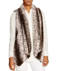 Sienna Rose - Faux Fur Drape Vest - Compare At $165 - Lyst