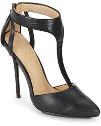 L.A.M.B. Serena Leather Pumps/Black - Lyst