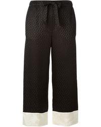 Alexander McQueen Jacquard Straight Leg Trousers - Lyst