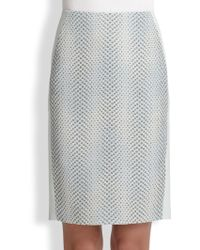 Elie Tahari Kelsa Pencil Skirt - Lyst