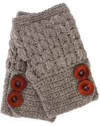 San Diego Hat Company Womens Fingerless Button Gloves - Lyst