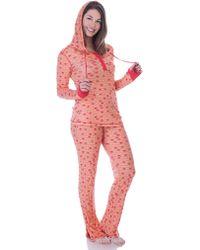 Munki Munki Teeny Elephant Pajama Set - Lyst