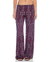 Ella Moss Purple Baroque Pant - Lyst