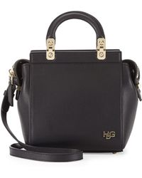 Givenchy Hdg Top-Handle Mini Leather Crossbody Bag - Lyst