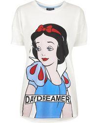 Topshop Snow White Print Pyjama Tee - Lyst
