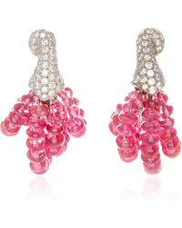 Gioia - Spinel Beads And Diamond Earrings - Lyst