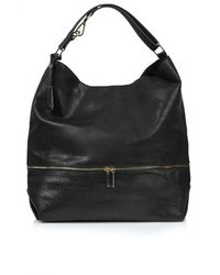 Topshop Slouchy Snake-Effect Hobo Bag - Lyst