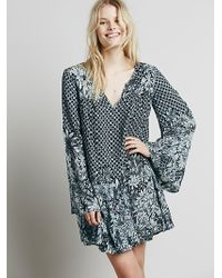 Free People Womens Dreamy Daze Print Dress - Lyst