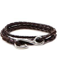 Forever 21 - Braided Faux Leather Hook Bracelet - Lyst